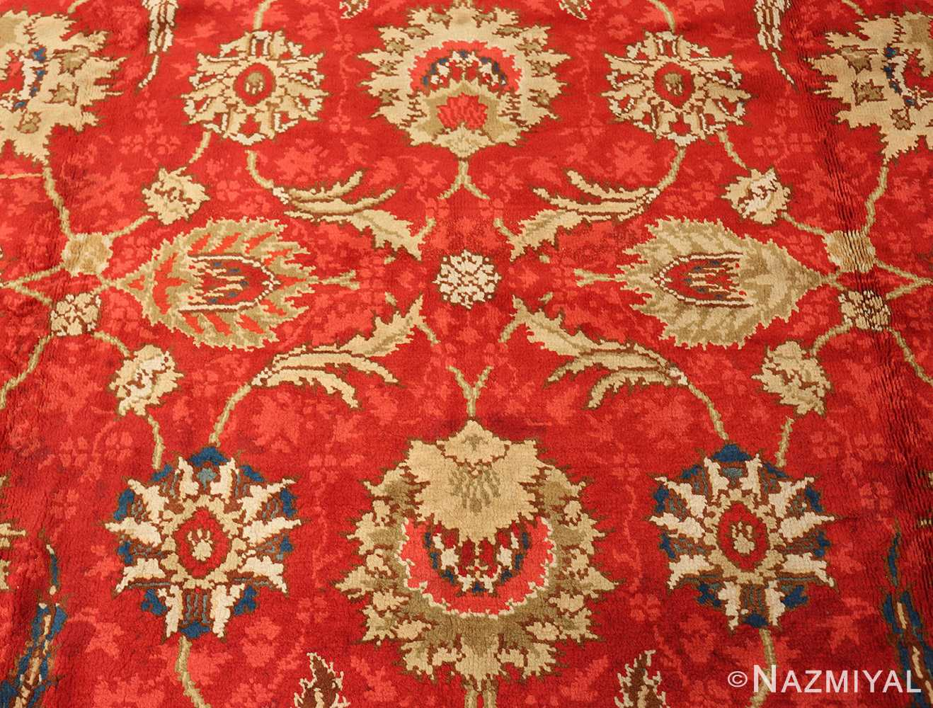 antique arts and crafts donegal irish rug 47137 side Nazmiyal