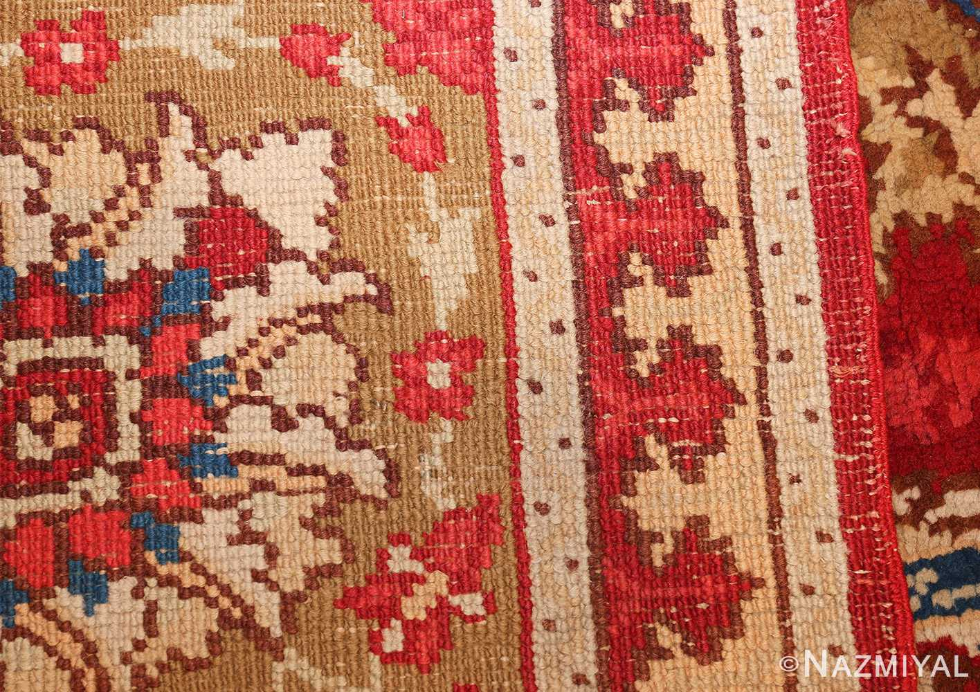 antique arts and crafts donegal irish rug 47137 weave Nazmiyal