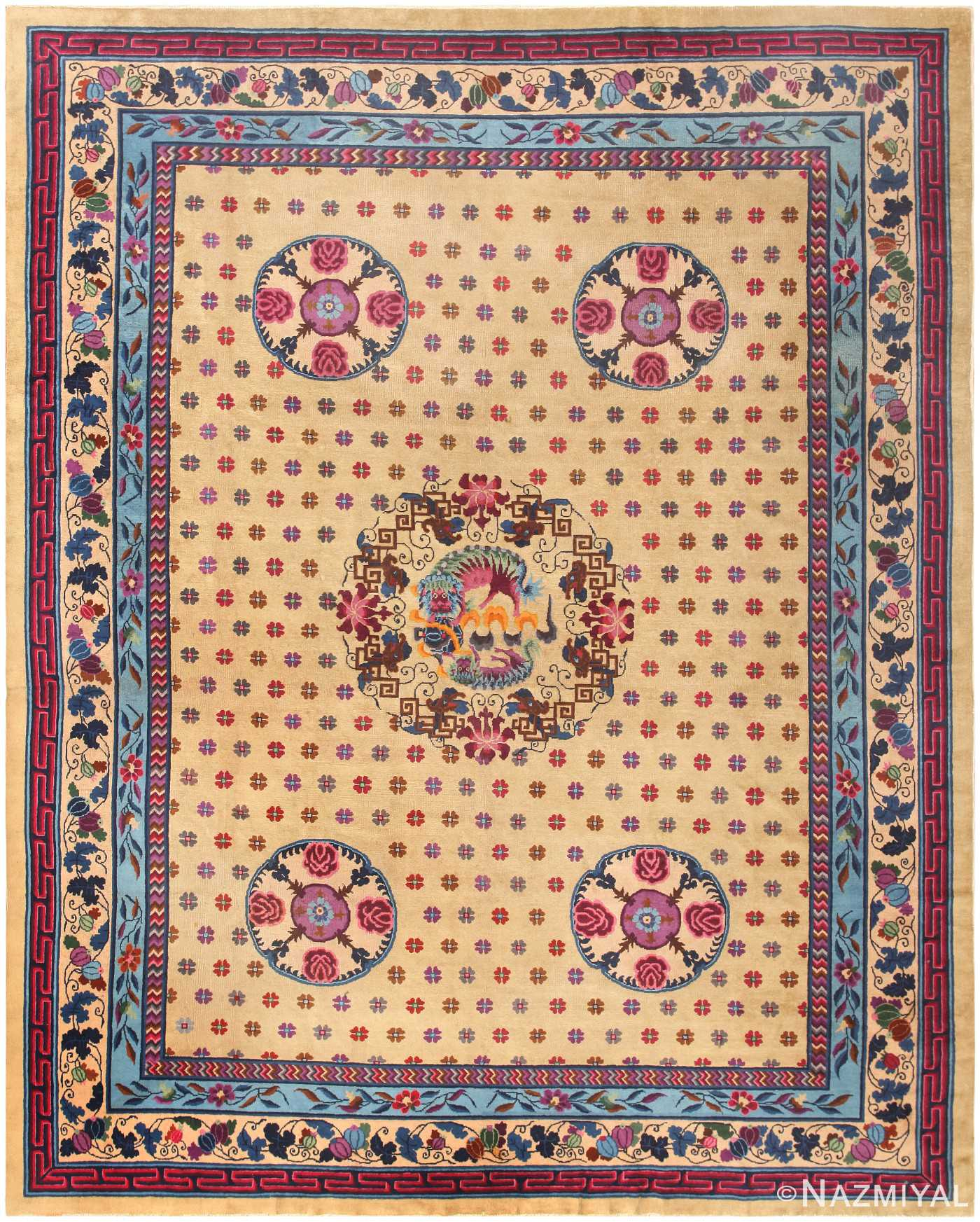 Antique Chinese Rug 47040 Detail/Large View