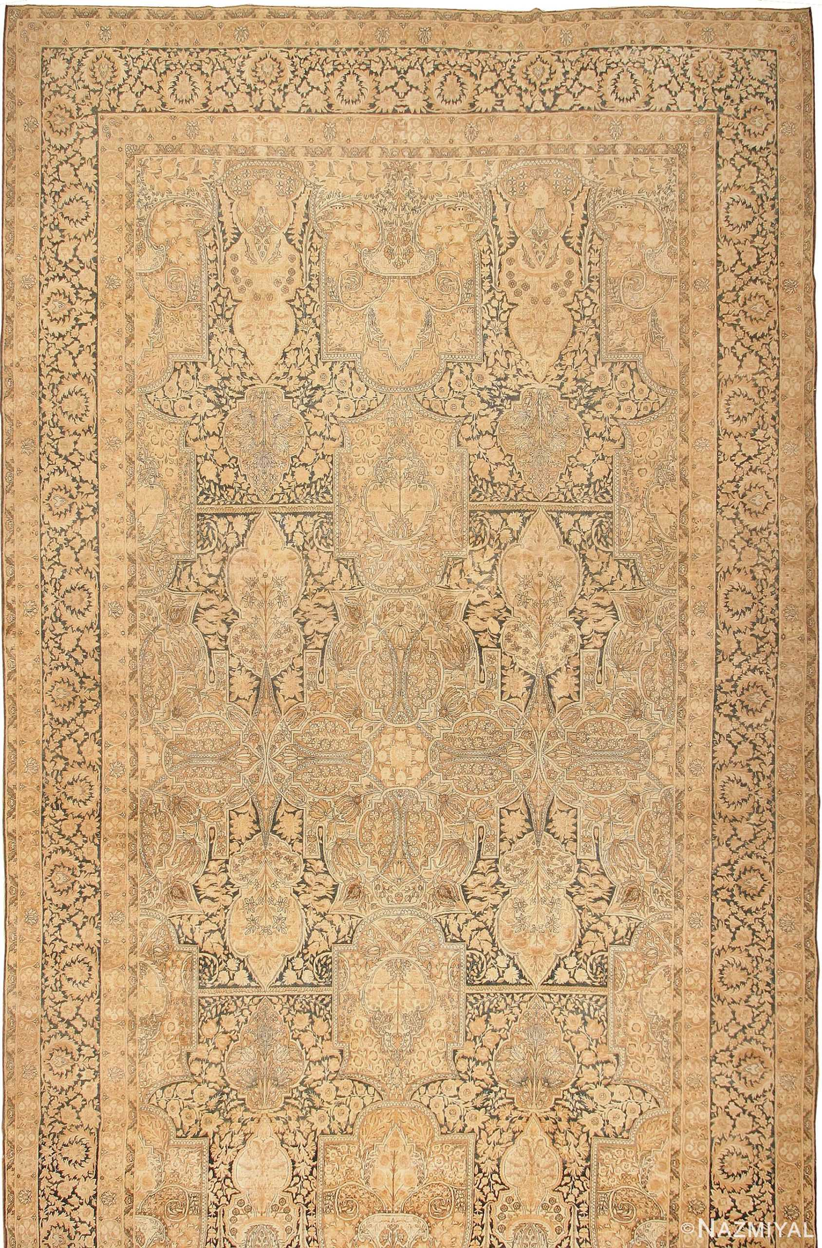 Oversized Antique Oriental Persian Kerman Rug 42703 Nazmiyal