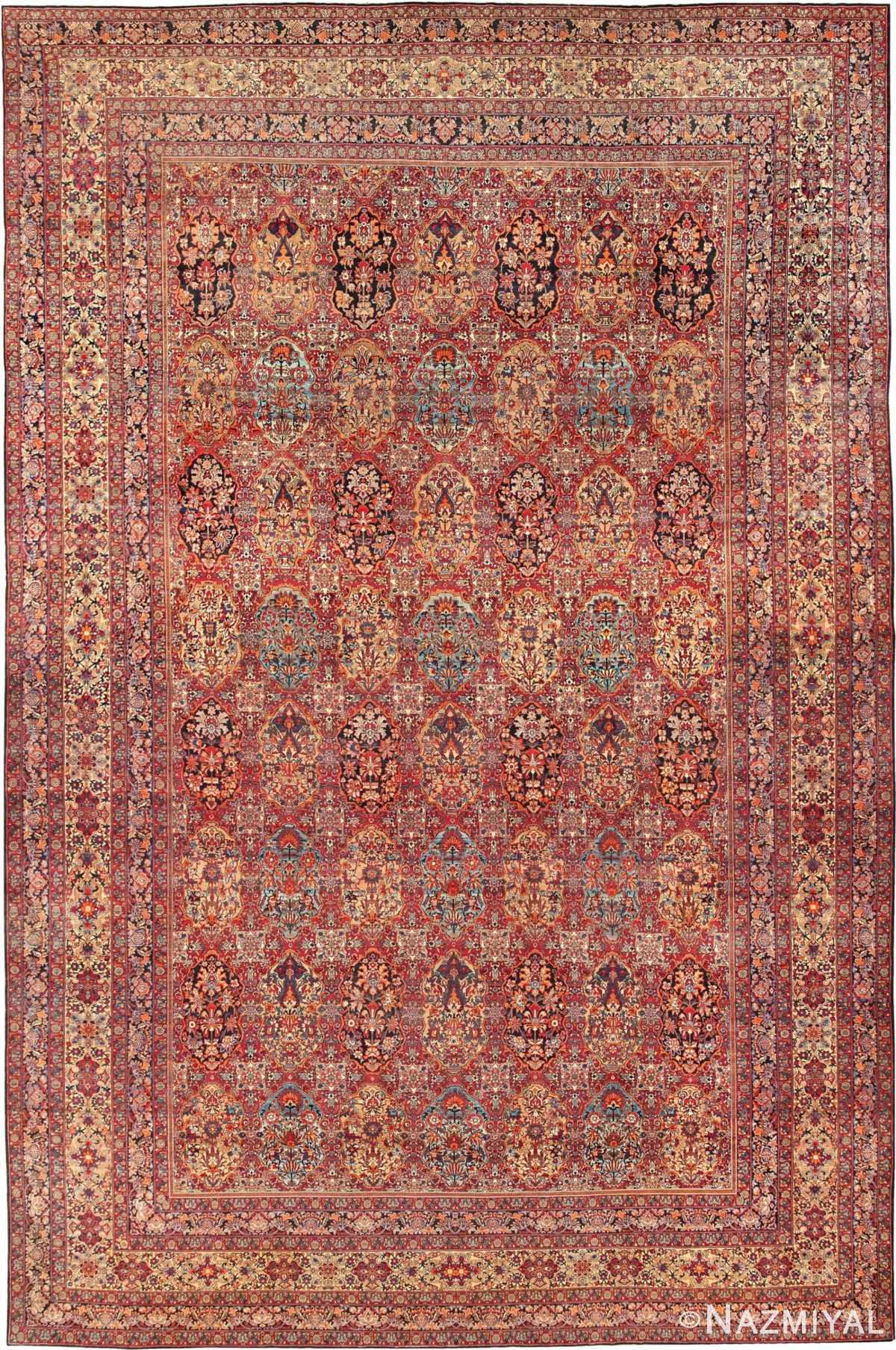 Antique Oversize Persian Kerman Carpet 46909 Nazmiyal