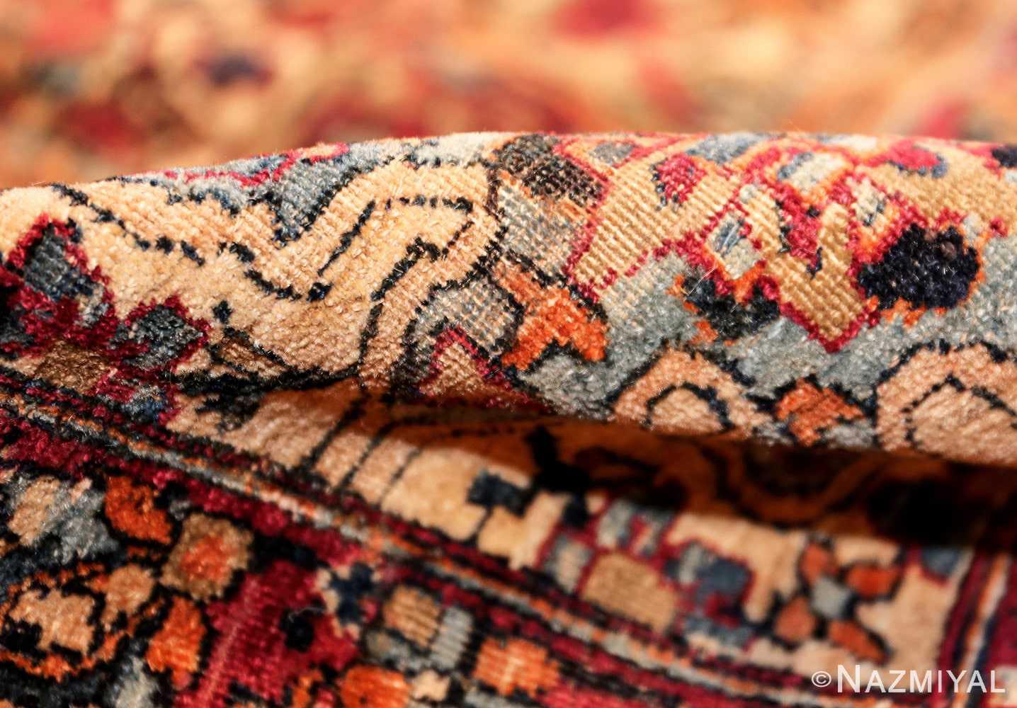 antique oversize persian kerman carpet 46909 pile Nazmiyal
