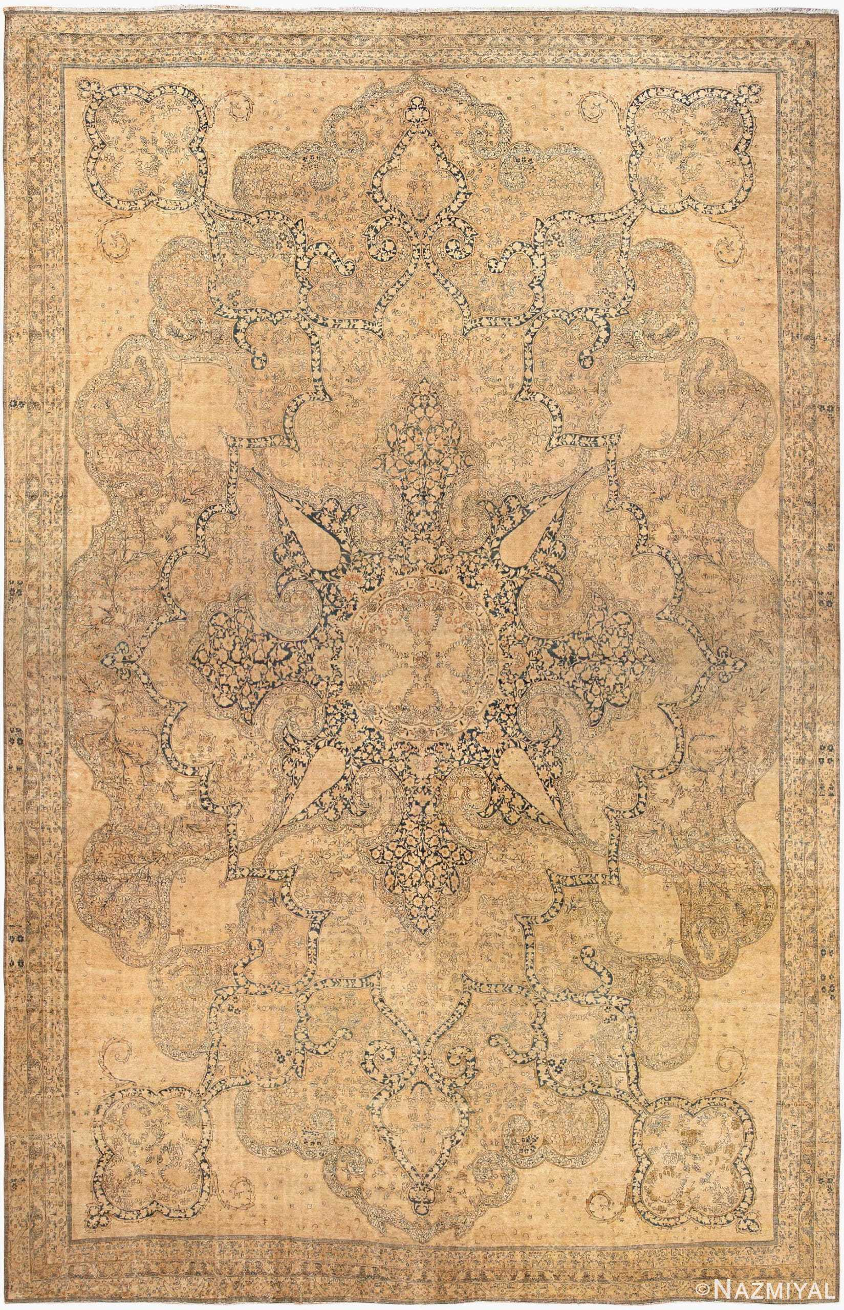 Finely Woven Oversized Oriental Antique Persian Kerman Rug 44616 Nazmiyal