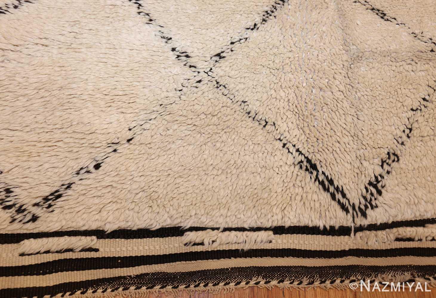 vintage moroccan rug 47108 fringe Nazmiyal