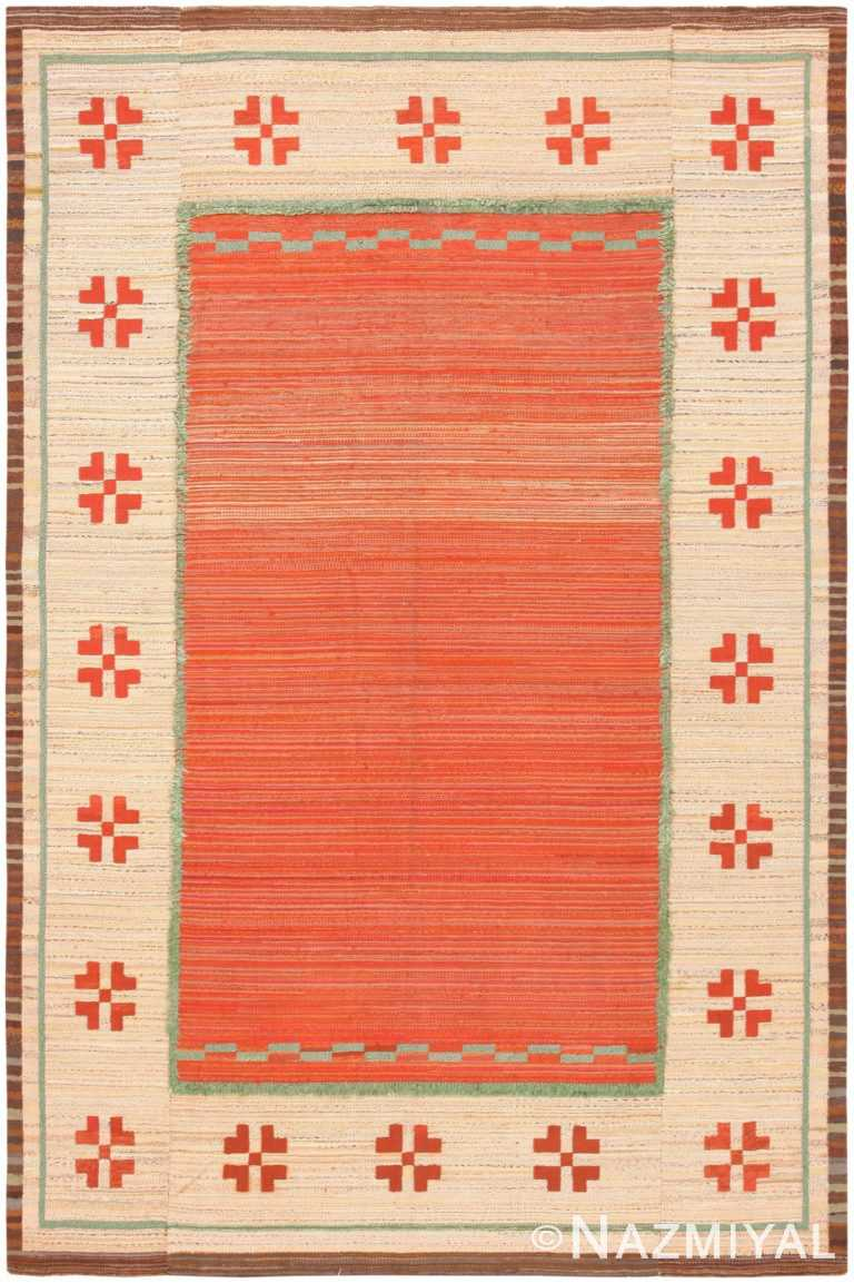 Vintage Scandinavian Swedish Kilim 47144 Large Image