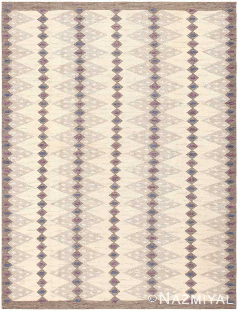 Vintage Scandinavian Swedish Kilim 47146 Large Image