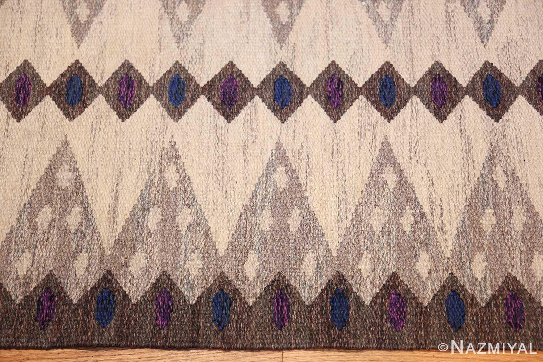 vintage swedish kilim 47146 border Nazmiyal