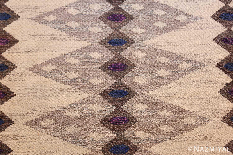 vintage swedish kilim 47146 texture Nazmiyal