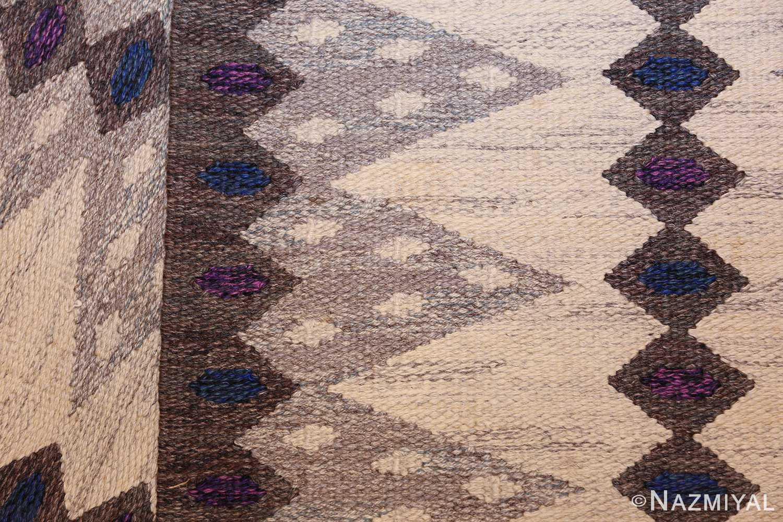 vintage swedish kilim 47146 weave Nazmiyal