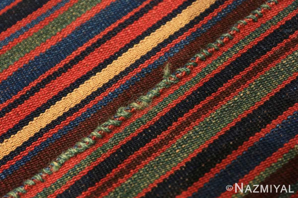 Weave detail Antique Persian Jajim Kilim 47155 by Nazmiyal