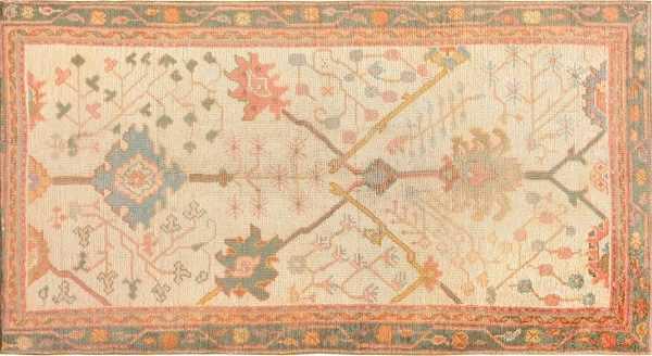 antique decorative turkish oushak rug by nazmiyal