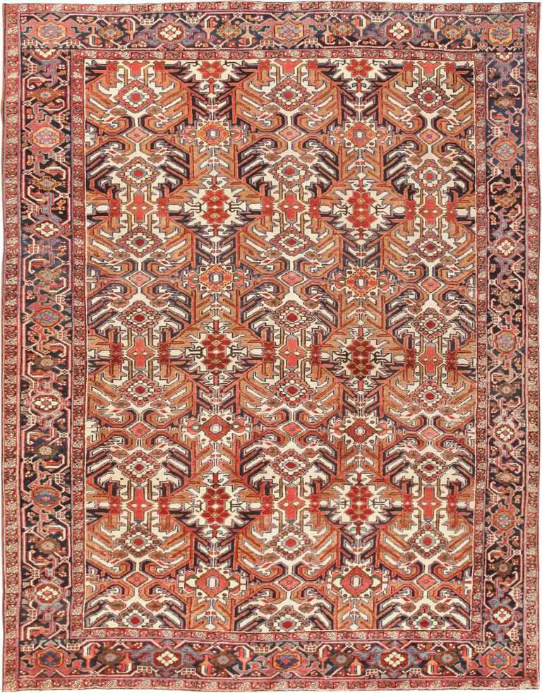 Antique Heriz Rug 47160 Detail/Large View