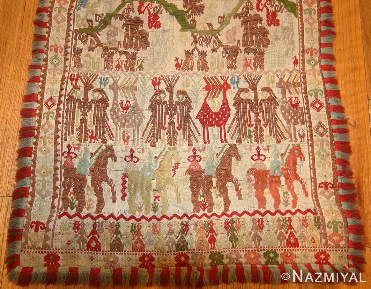 antique greek embroidery 47221 horses Nazmiyal
