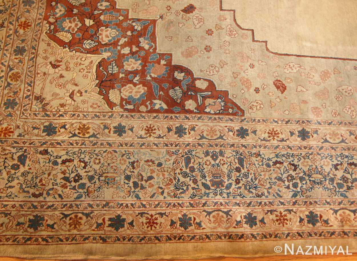 antique haji jalili persian tabriz rug 47135 border Nazmiyal