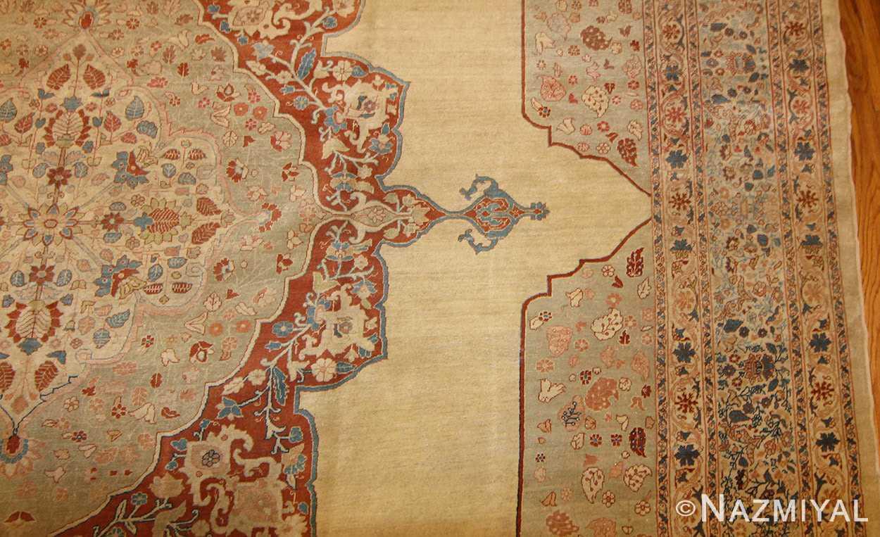 antique haji jalili persian tabriz rug 47135 details Nazmiyal