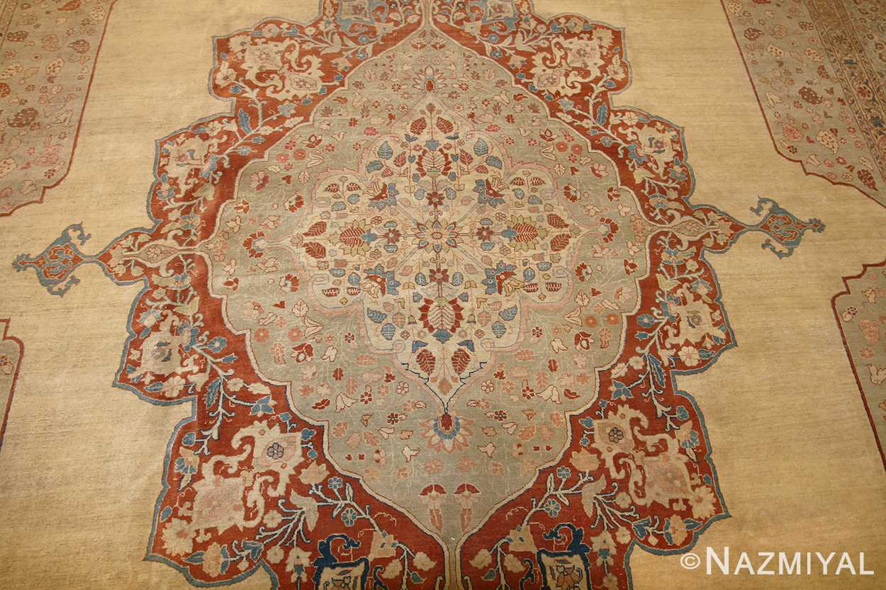 antique haji jalili persian tabriz rug 47135 medallion Nazmiyal