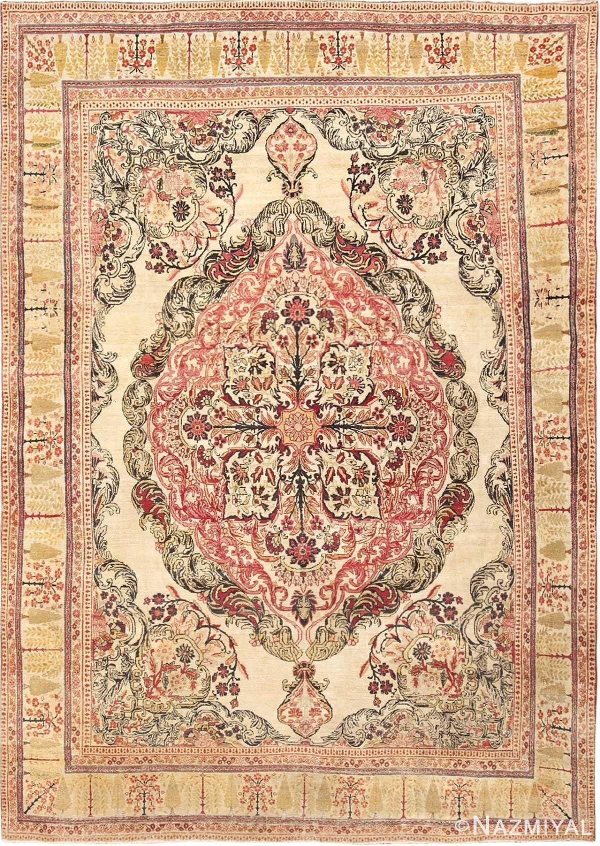 Antique Kerman Persian Rug 46655 Detail/Large View