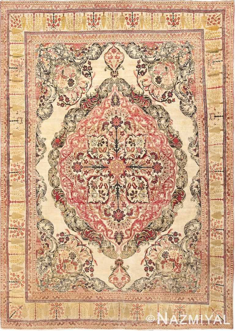 Fine Antique Persian Medallion Kerman Room Size Rug #46655 by Nazmiyal Antique Rugs