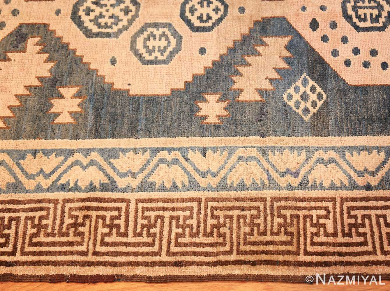 antique khotan carpet 47250 border Nazmiyal