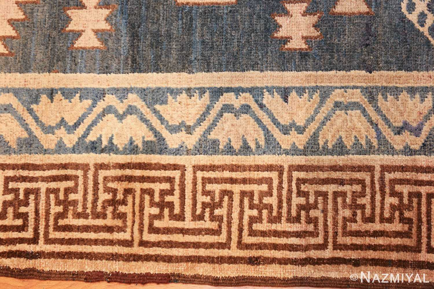 antique khotan carpet 47250 closeup Nazmiyal