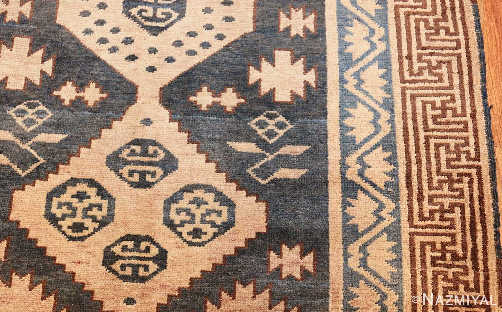 antique khotan carpet 47250 side Nazmiyal