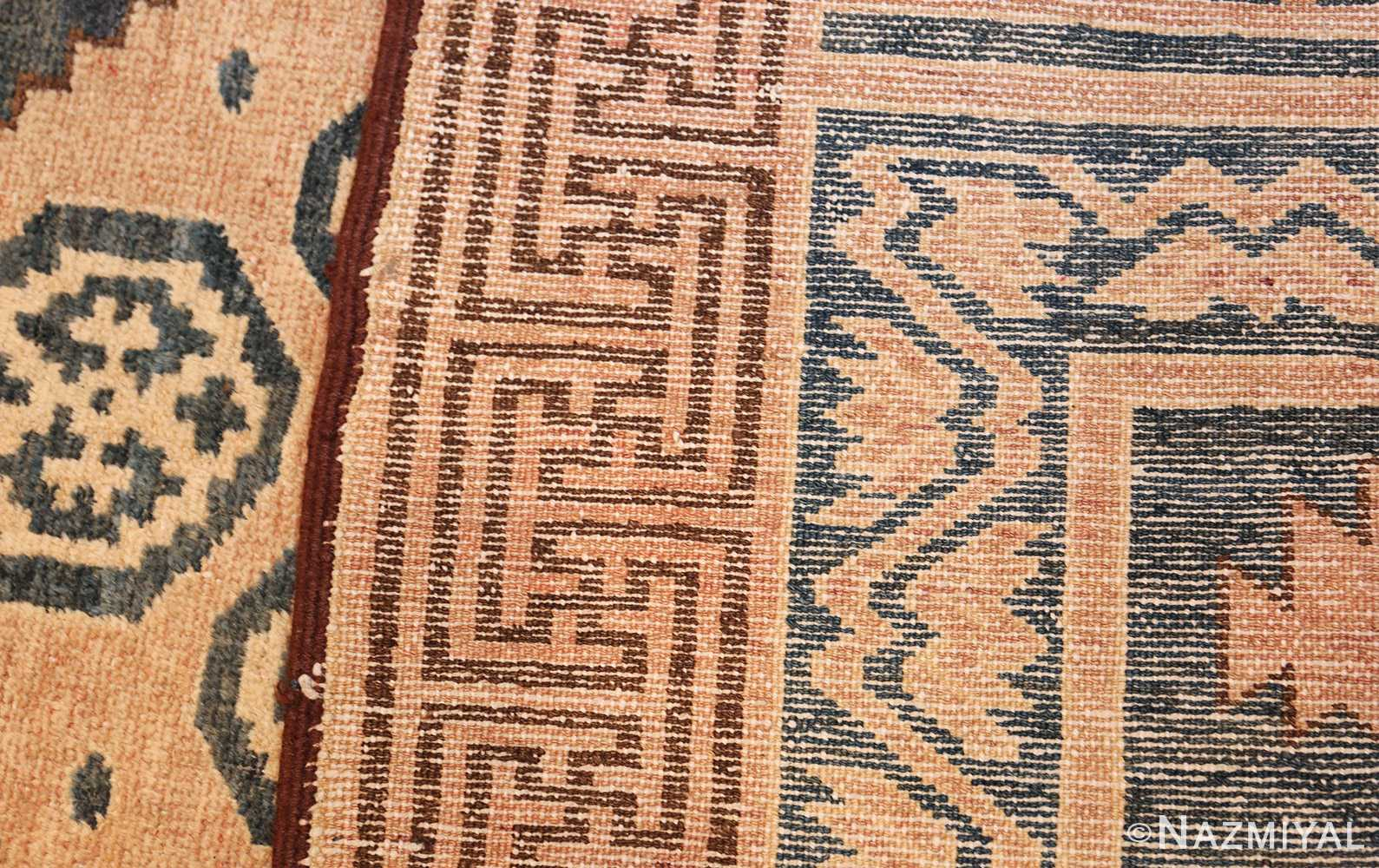 antique khotan carpet 47250 weave Nazmiyal