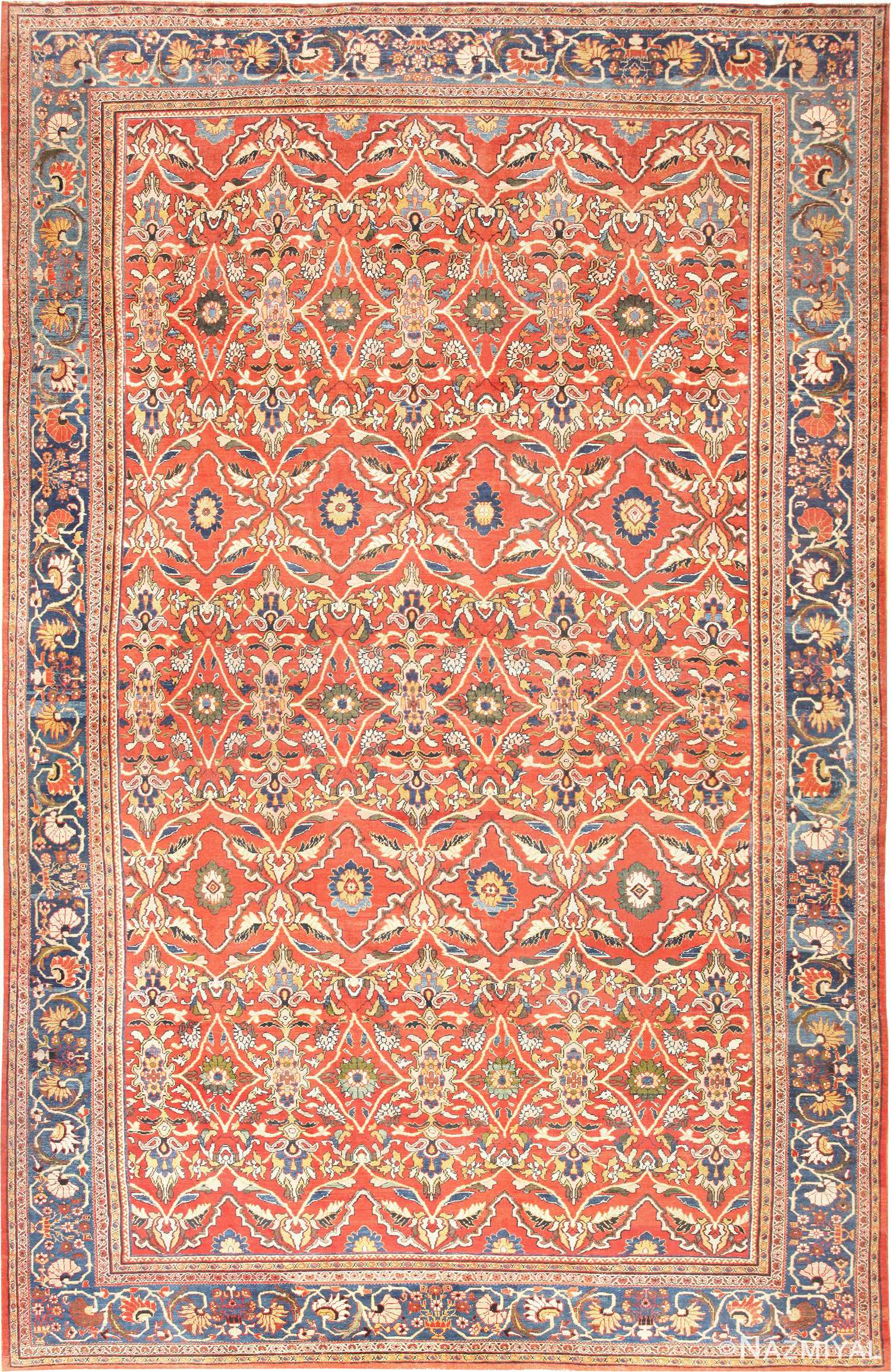 Antique Persian Sultanabad Carpet 47267 Nazmiyal
