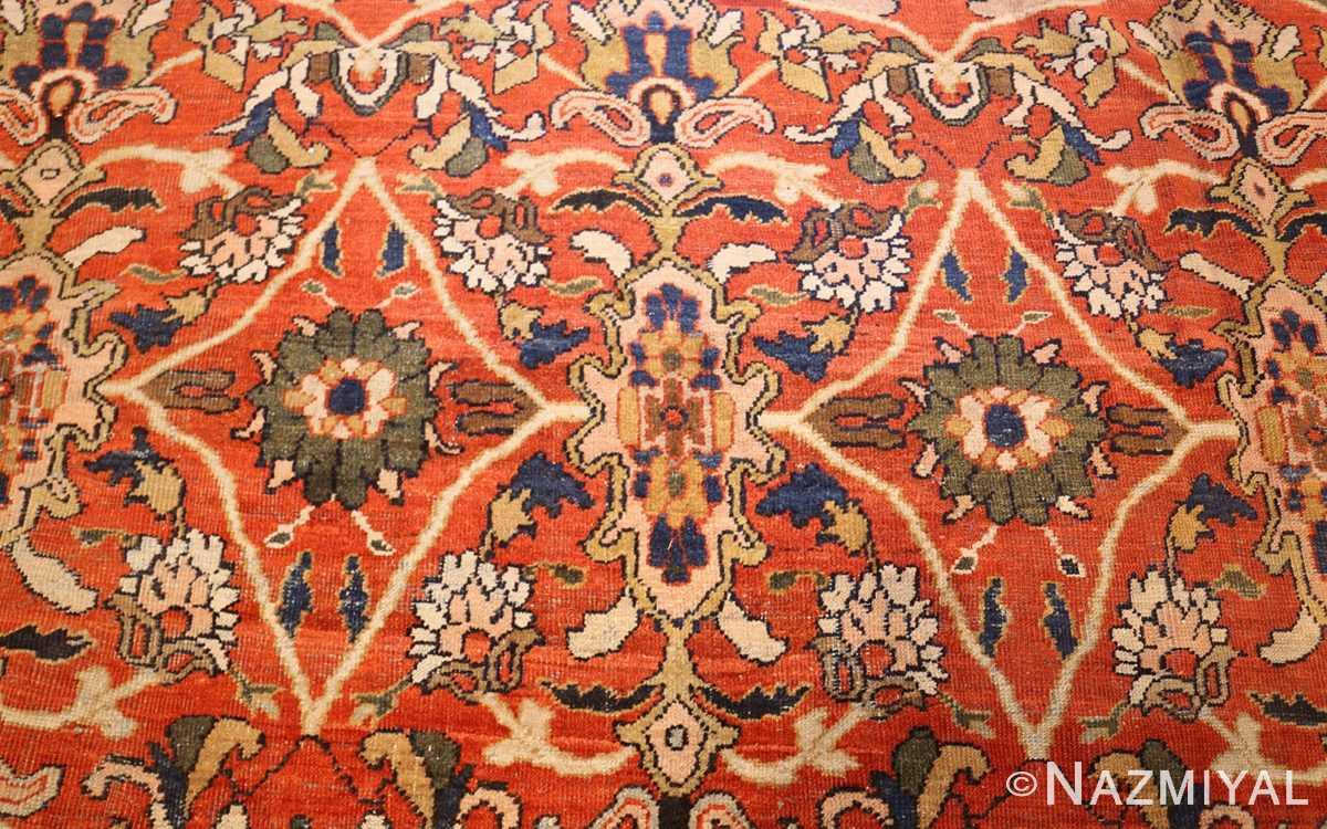 antique persian sultanabad carpet 47267 green Nazmiyal