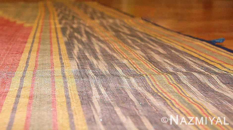 antique silk Uzbek Ikat textile embroidery 47242 shine Nazmiyal