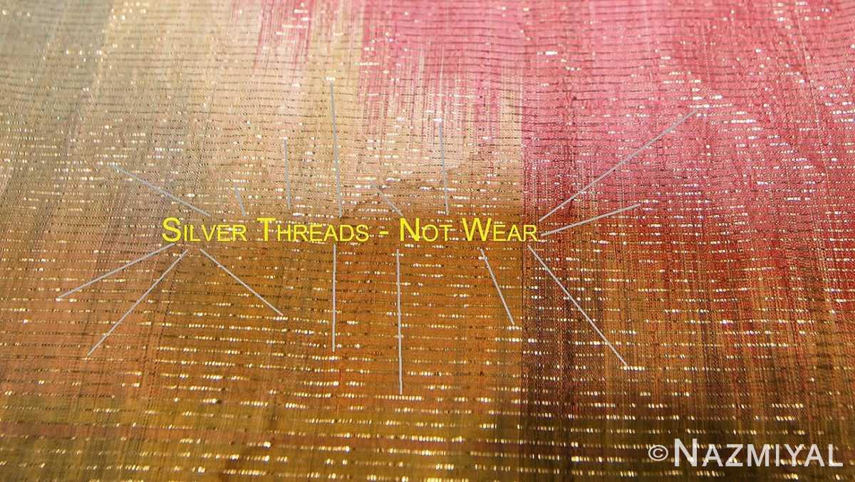 antique silk Uzbek Ikat textile embroidery 47242 silver Nazmiyal
