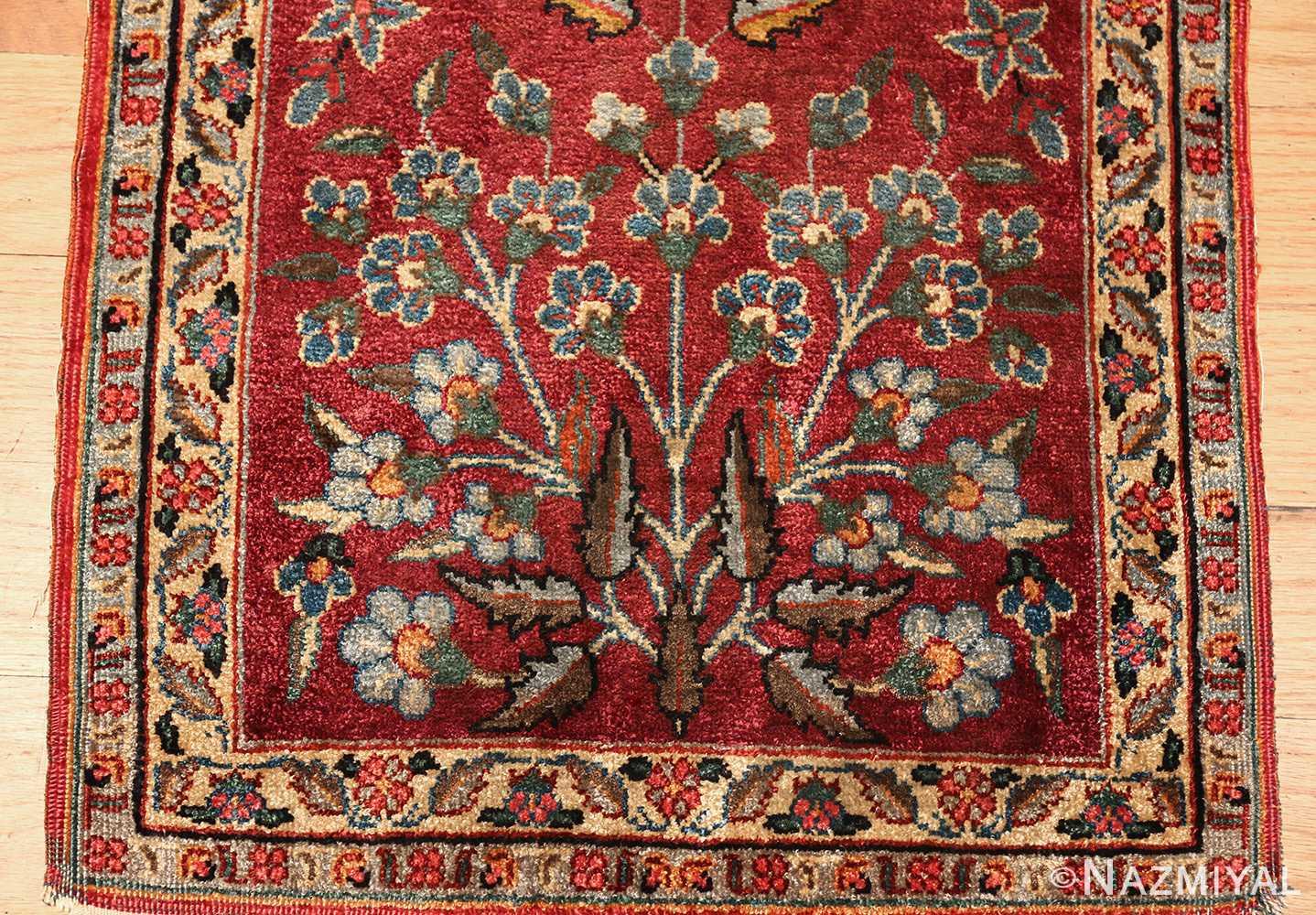 antique silk turkish rug 47223 bush Nazmiyal