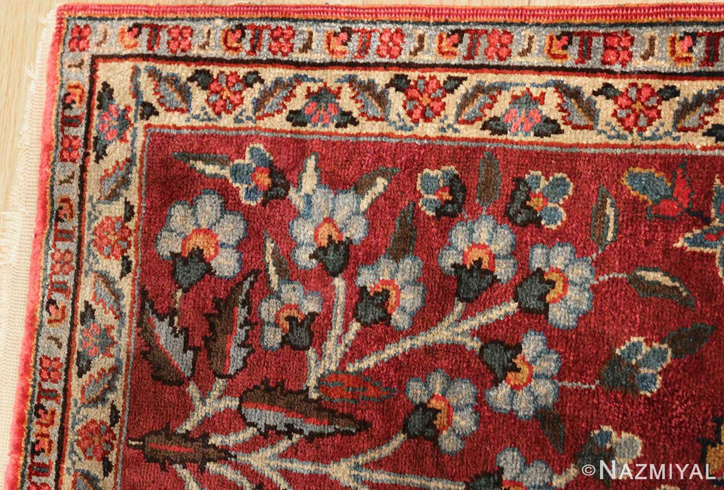 antique silk turkish rug 47223 corner Nazmiyal