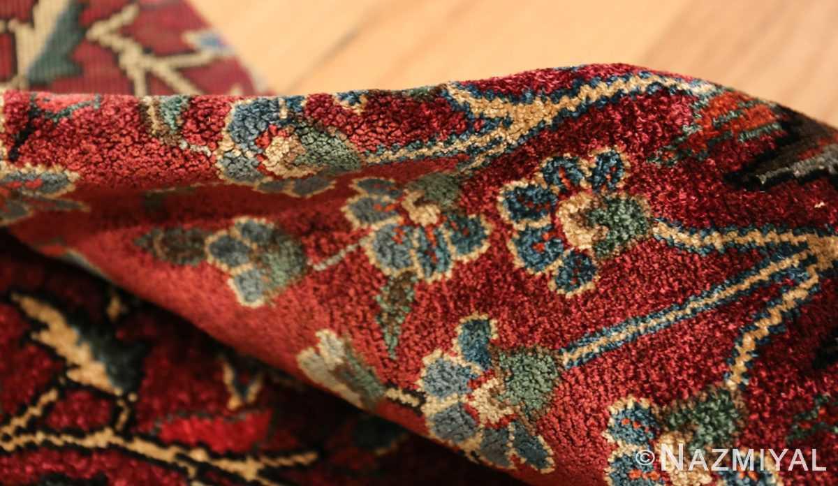 antique silk turkish rug 47223 pile Nazmiyal