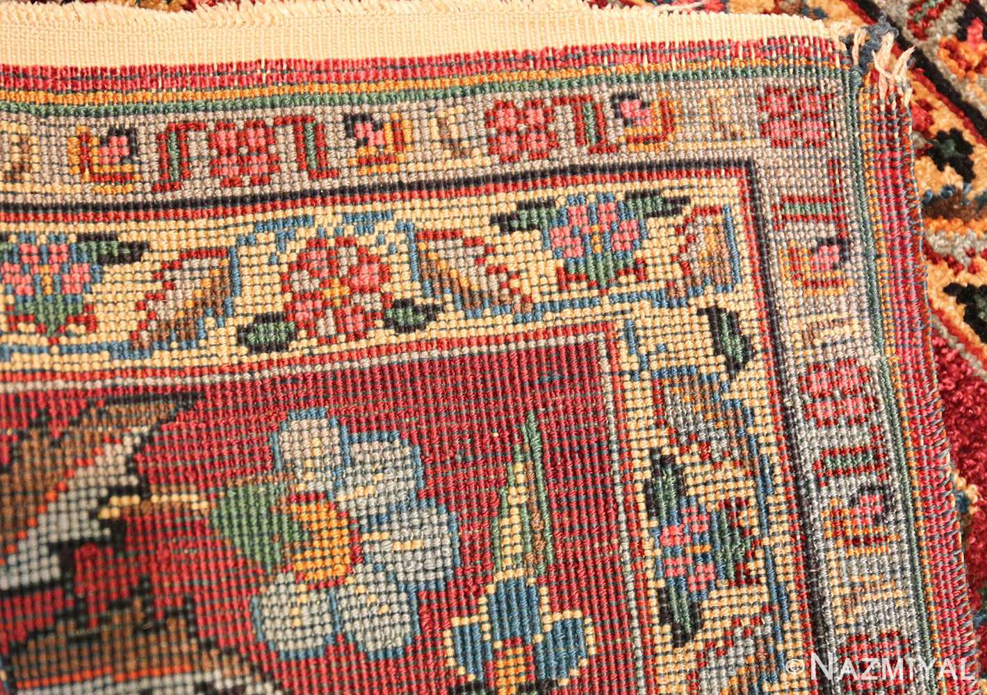 antique silk turkish rug 47223 weave Nazmiyal