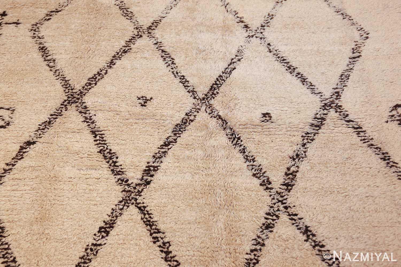 vintage moroccan beni ourain rug 47208 field Nazmiyal