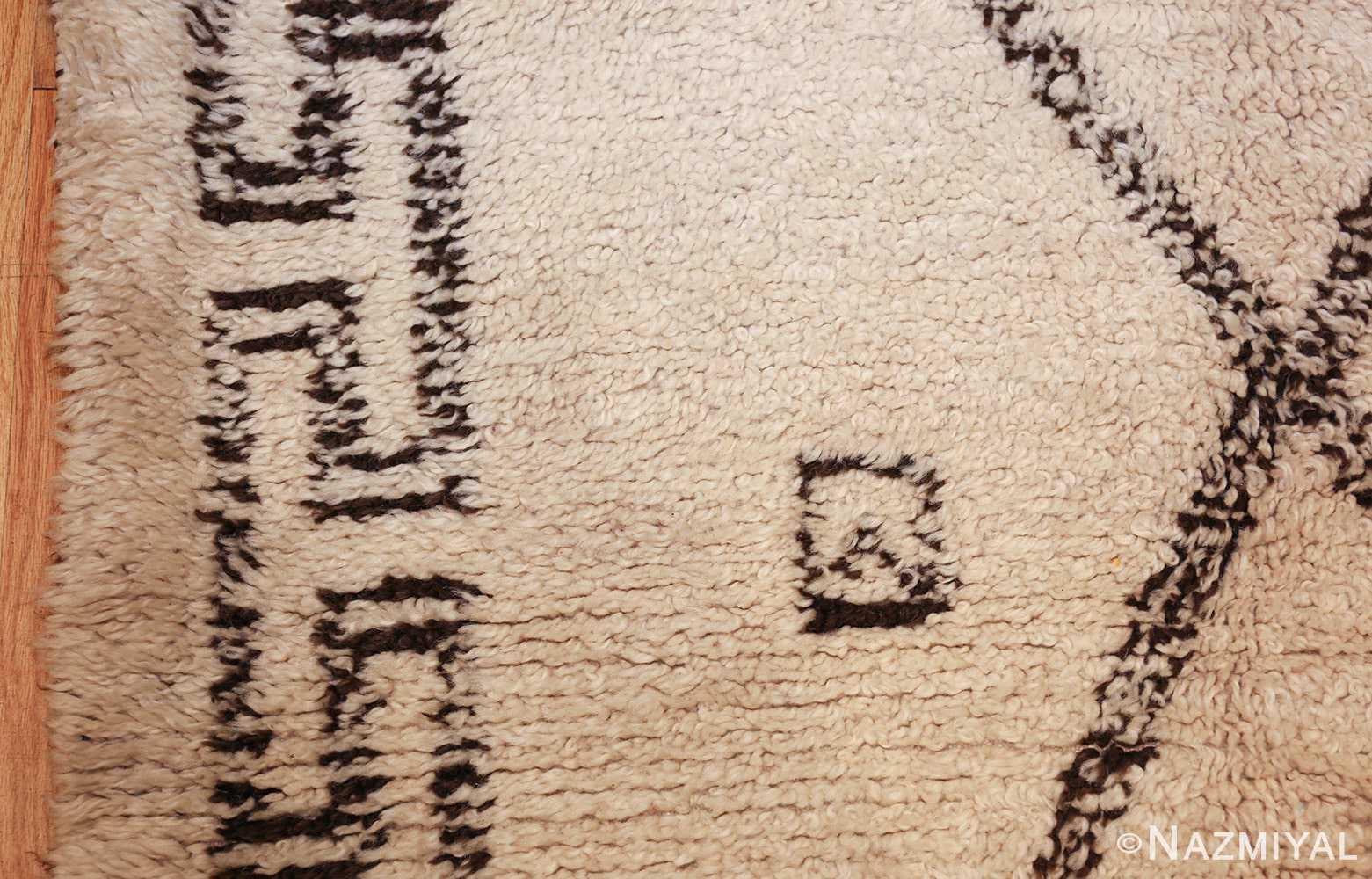 vintage moroccan beni ourain rug 47208 square Nazmiyal