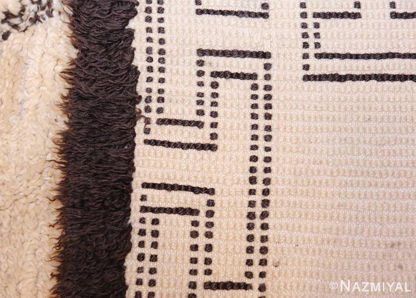 vintage moroccan beni ourain rug 47208 weave Nazmiyal