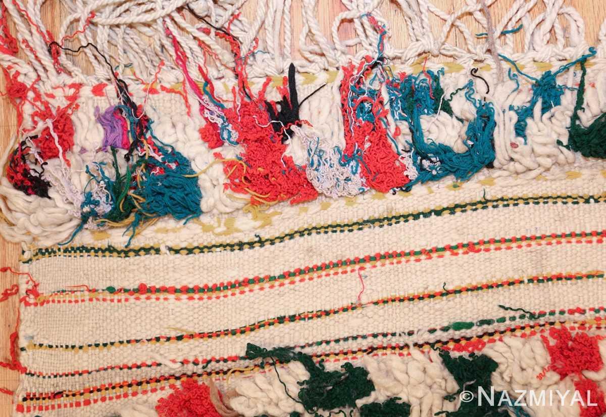 vintage moroccan rug 47216 fringes Nazmiyal