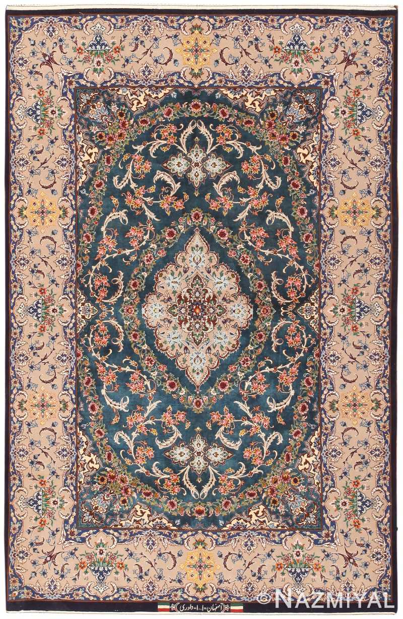 Vintage Persian Silk And Wool Esfahan Rug Esfahan Rug 47226