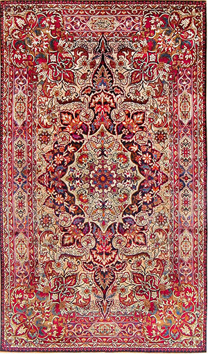 Antique Silk Kerman Rug by Master Aboul Ghasem Kermani 47591