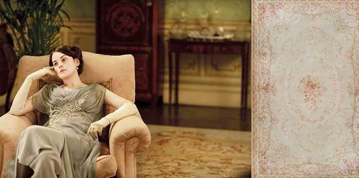 Antique Carpets of Downton Abbey, Antique Aubusson Carpet - Nazmiyal