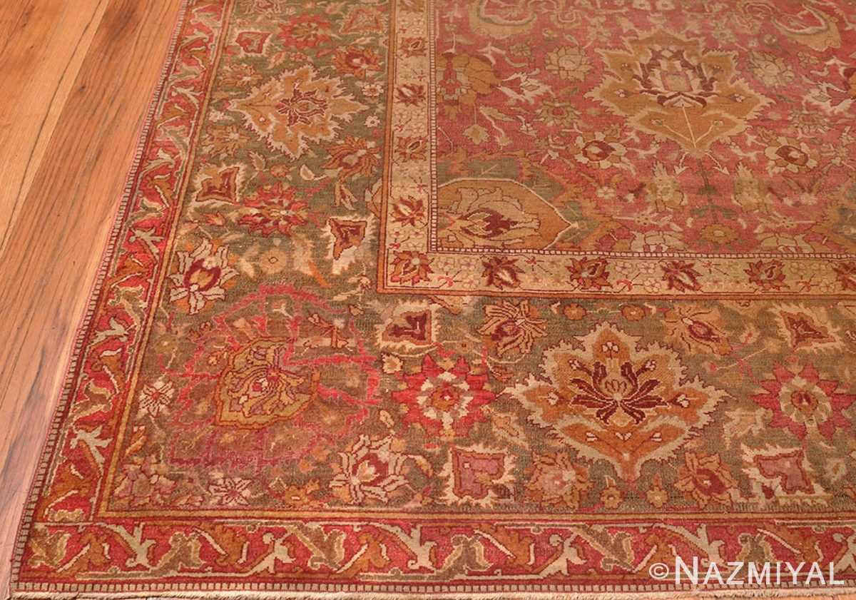Picture of the Corner of Antique Indian Amritsar Carpet 3277