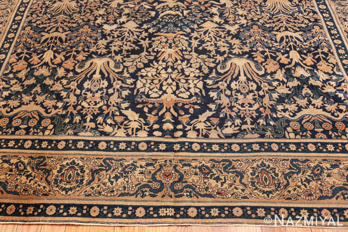 Border Antique Indian Agra rug 40572 by Nazmiyal