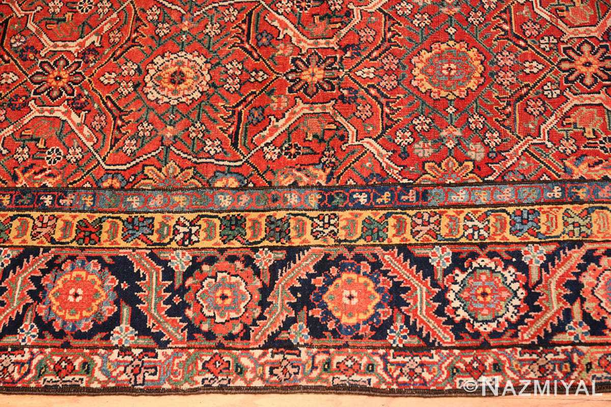 Border Large Antique Persian Farahan carpet 47201 by Nazmiyal