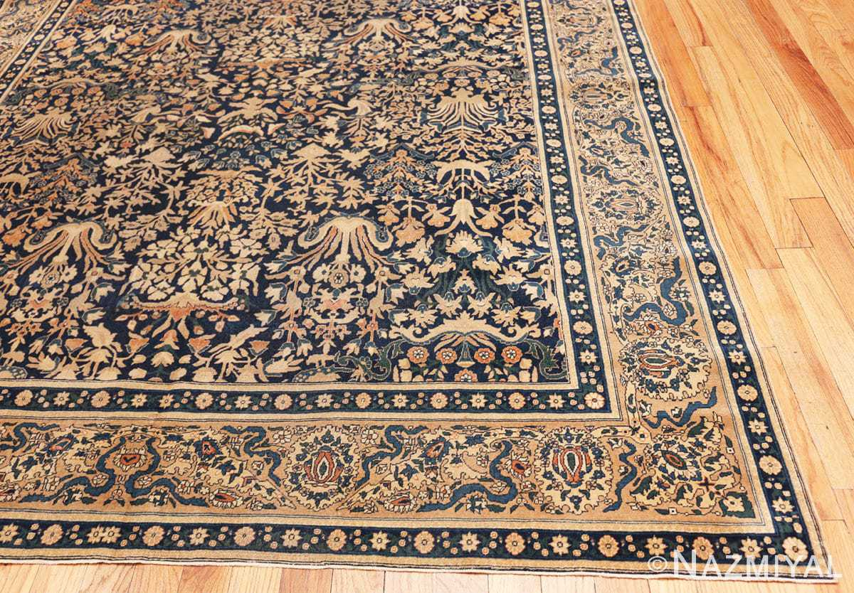 Corner Antique Indian Agra rug 40572 by Nazmiyal