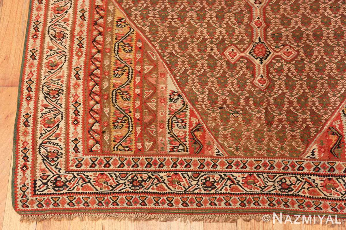 Corner Antique Persian Senneh Kilim rug 47278 by Nazmiyal