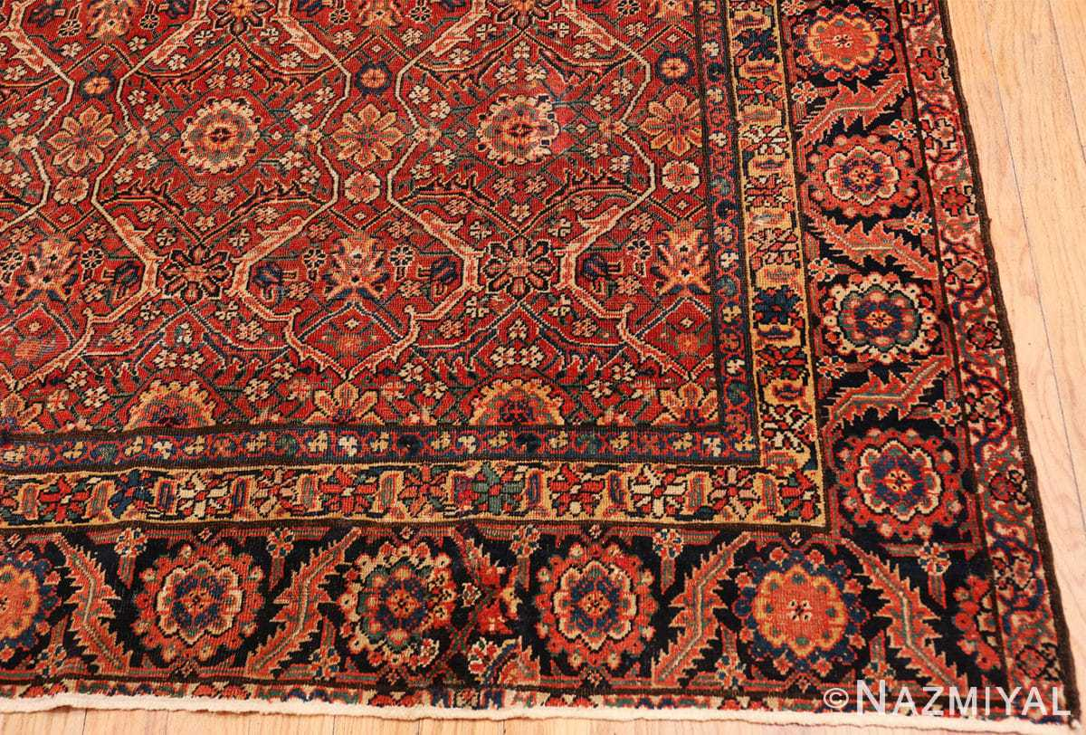 Corner Large Antique Persian Farahan carpet 47201 by Nazmiyal