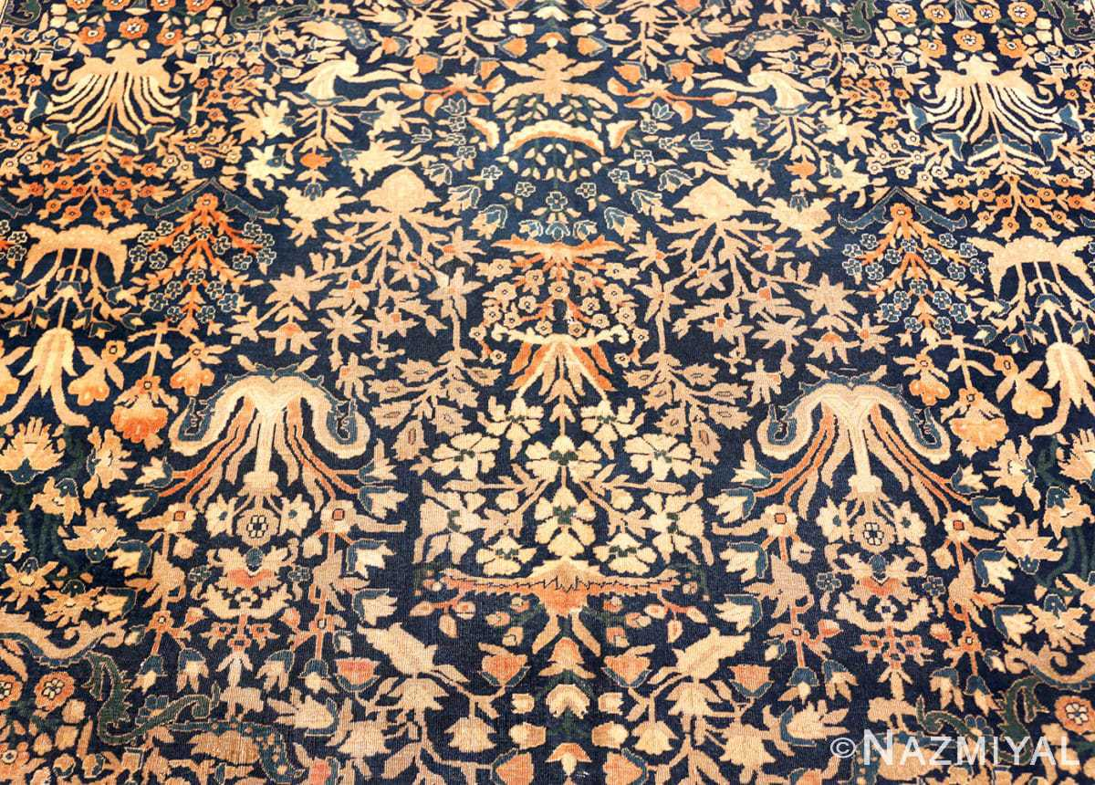 Detail Antique Indian Agra rug 40572 by Nazmiyal