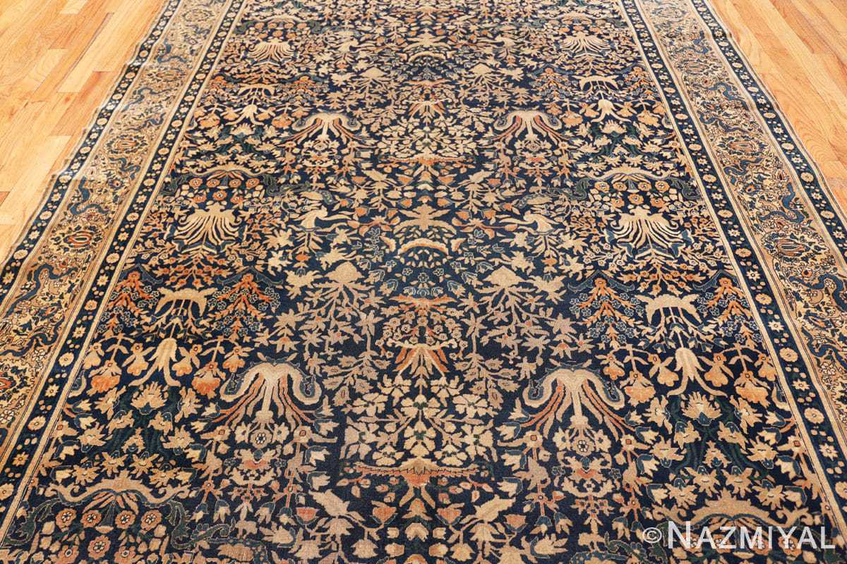 Field Antique Indian Agra rug 40572 by Nazmiyal