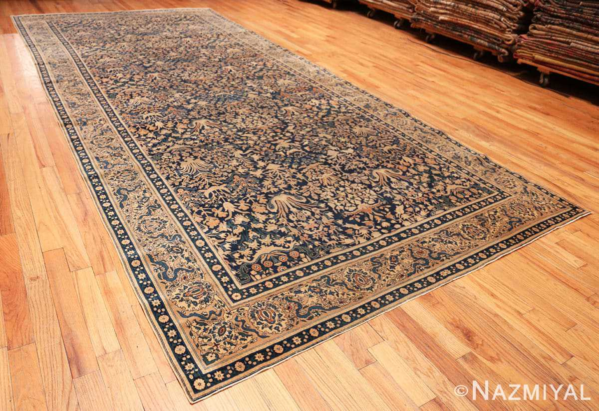 Full Antique Indian Agra rug 40572 by Nazmiyal